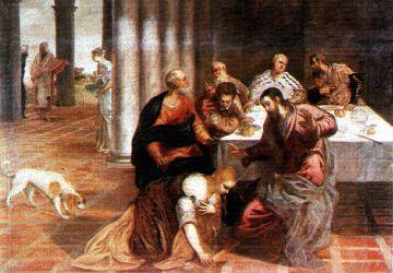 Christus im Hause des Pharisäers, Jacopo Tintoretto