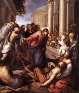 La piscina probatica (1592), Jacopo Palma il Giovane (1548 – 1628)